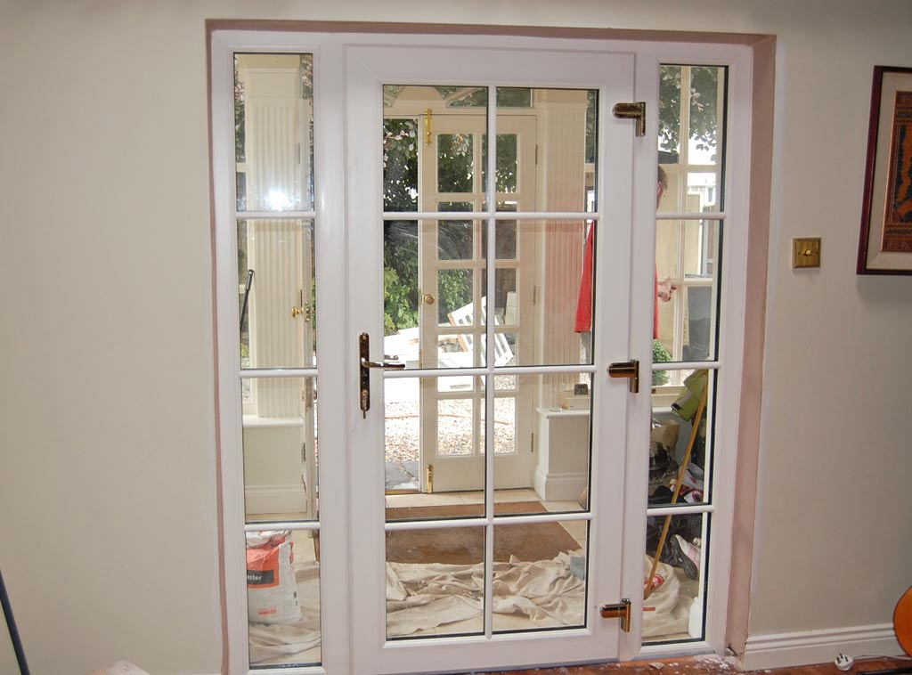 French doors pvc french doors window masters for Cream french doors