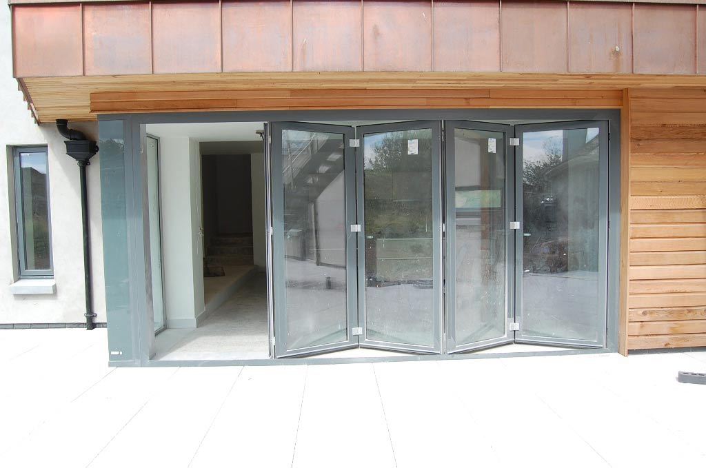 Exterior bi fold doors window masters for Exterior folding doors